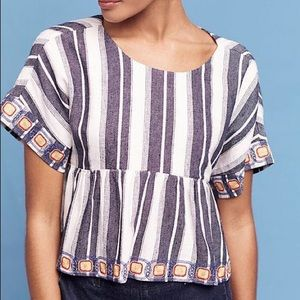 Maeve Anthropologie Striped Top